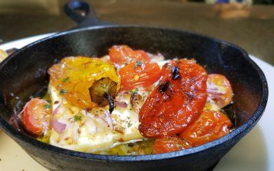 Bouyiourdi (Feta cheese meze)