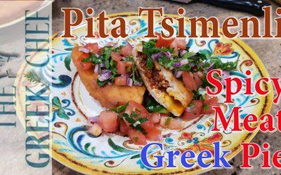 Tsimenli, spicy Greek meat pie