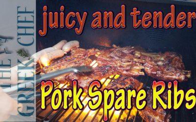 Pork Spare Ribs, tender and juicy