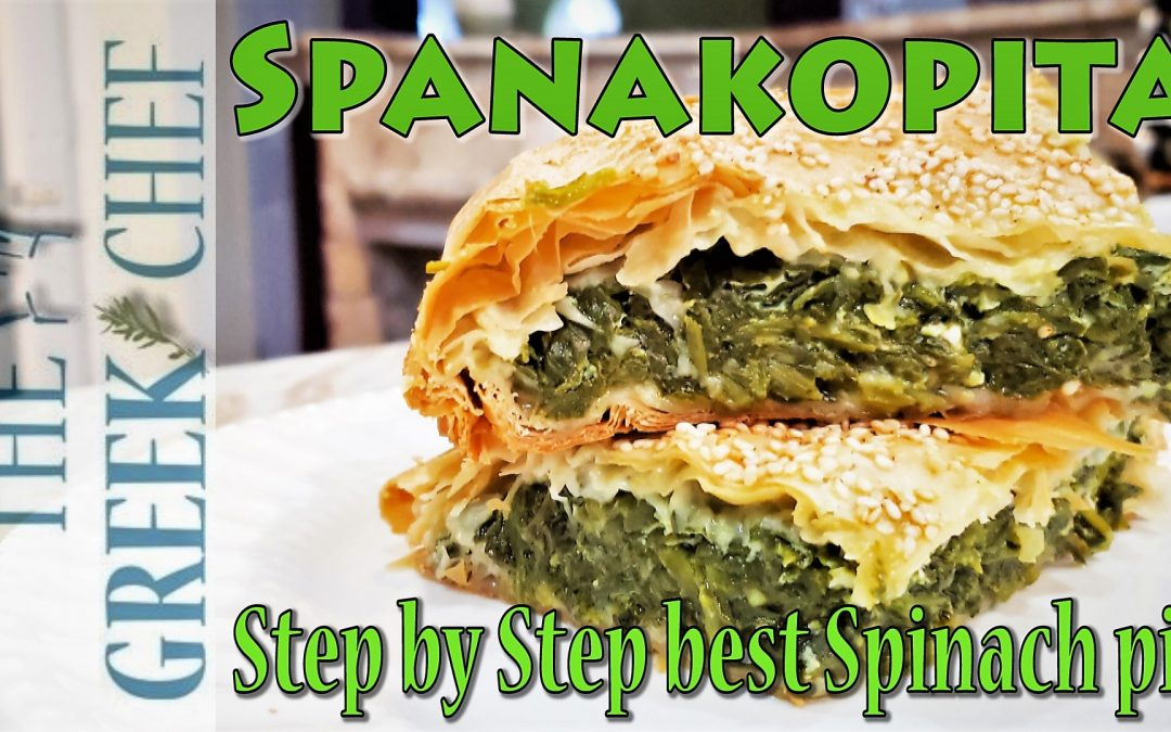 Spanakopita with feta cheese and phyllo pastry